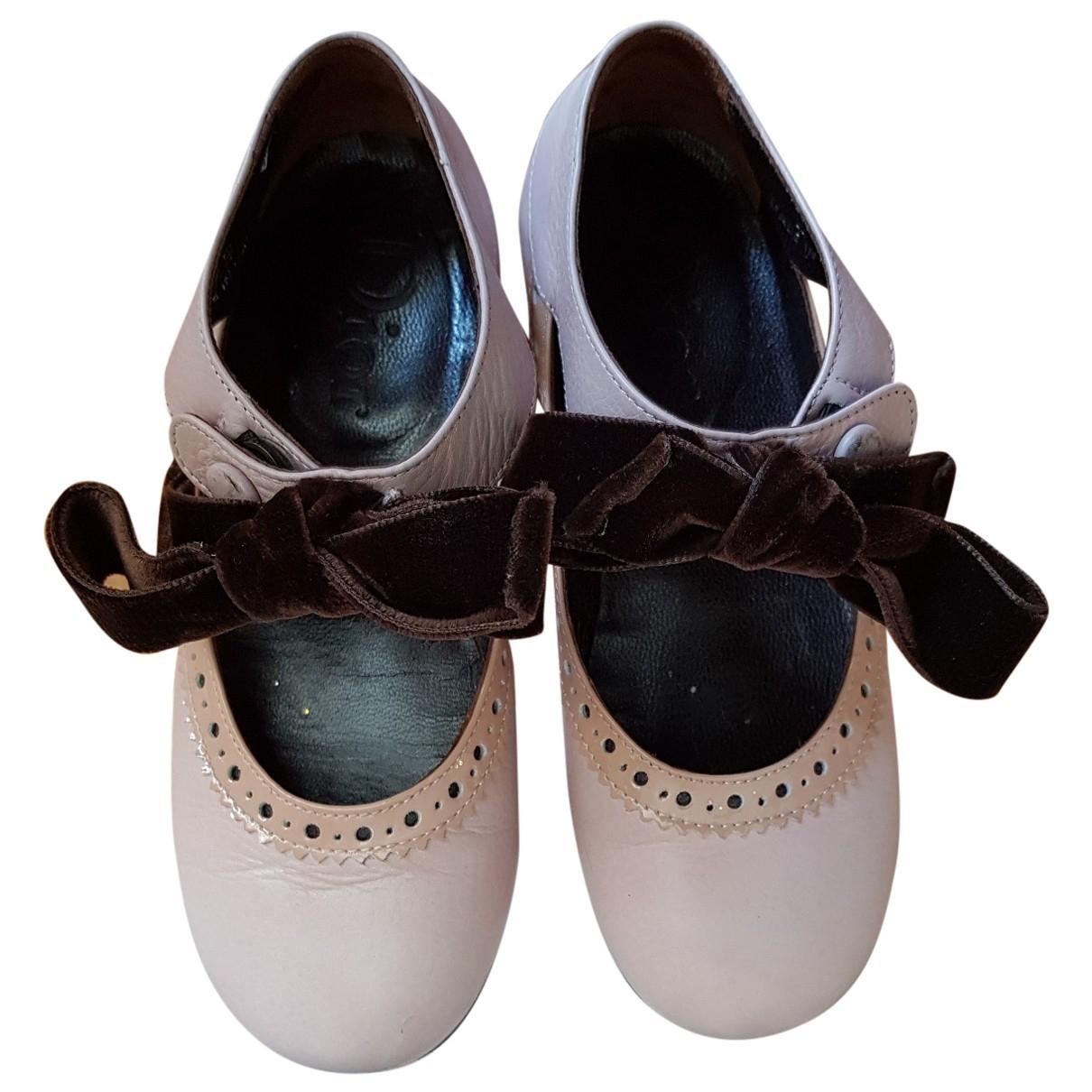 Dior \N Pink Leather Ballet flats for Kids 29 EU