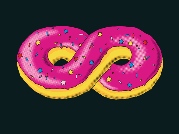Infinite Doughnut T Shirt