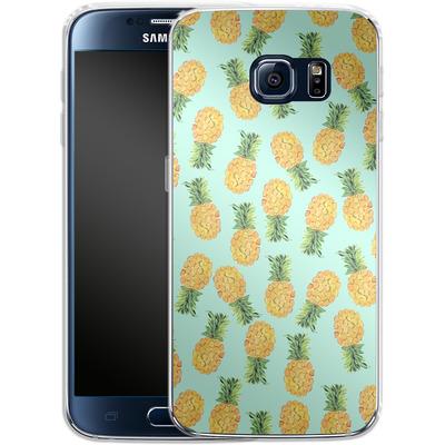 Samsung Galaxy S6 Silikon Handyhuelle - Pineapple von Amy Sia