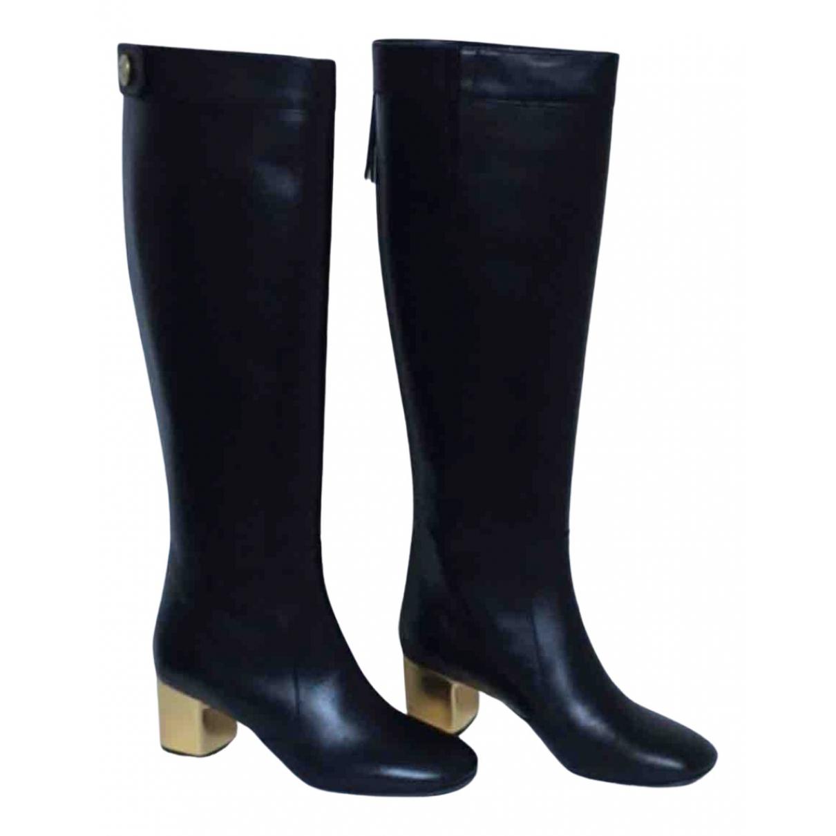 Celine N Black Leather Boots for Women 40 IT