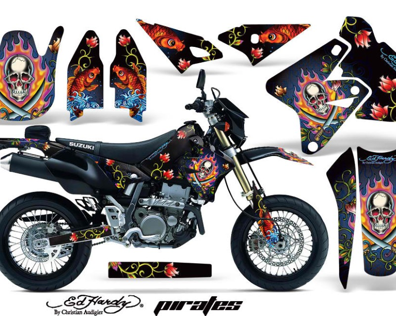 AMR Racing Dirt Bike Graphics Kit Decal Sticker Wrap For Suzuki DRZ400SM 2000-2018áEDHP BLUE