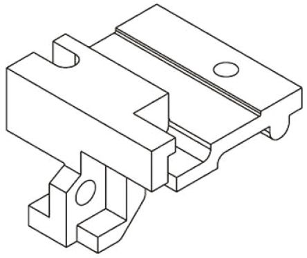 HARTING 09 06 Series Fixing Bracket for use with DIN 41612 Connector