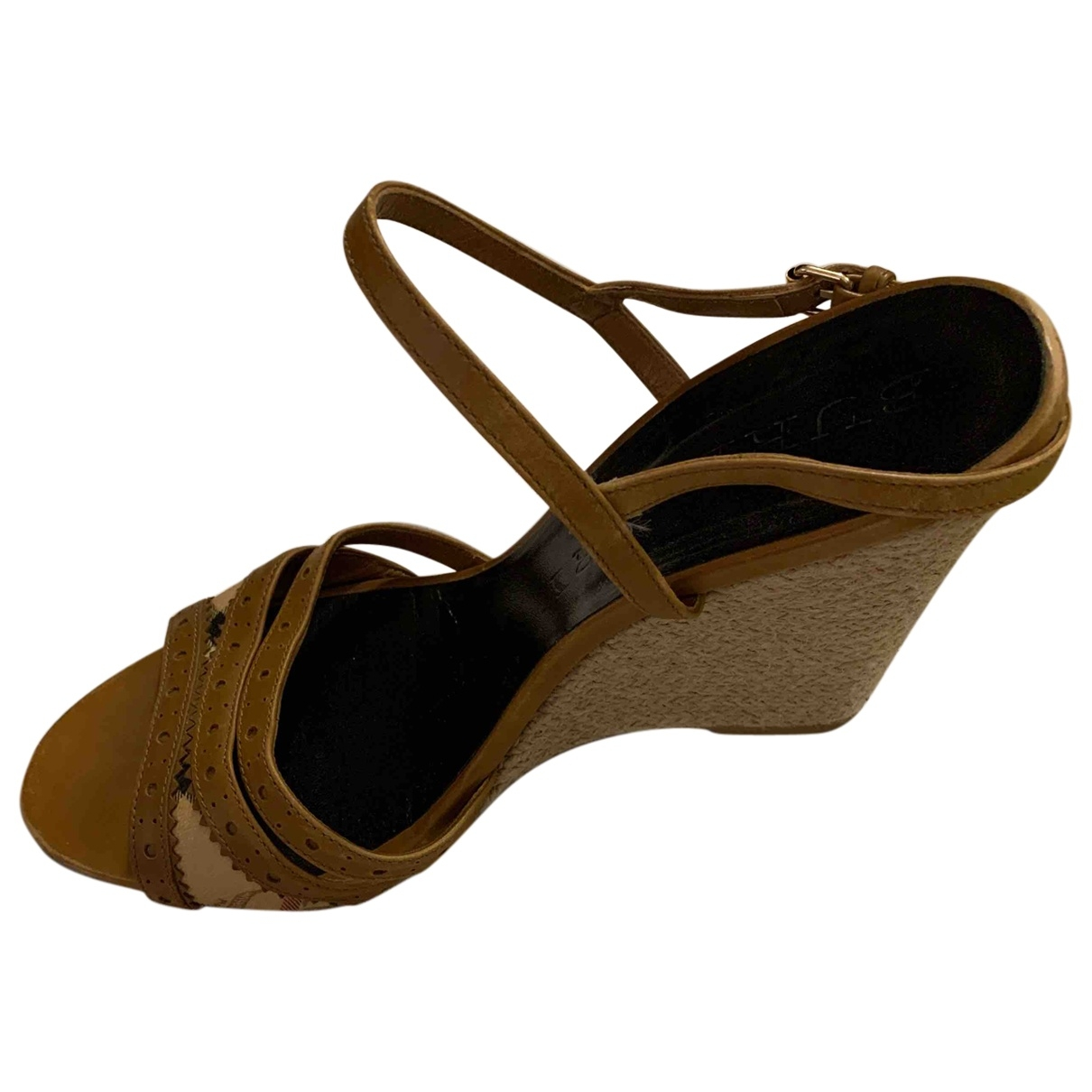 Sandalias de Cuero Burberry
