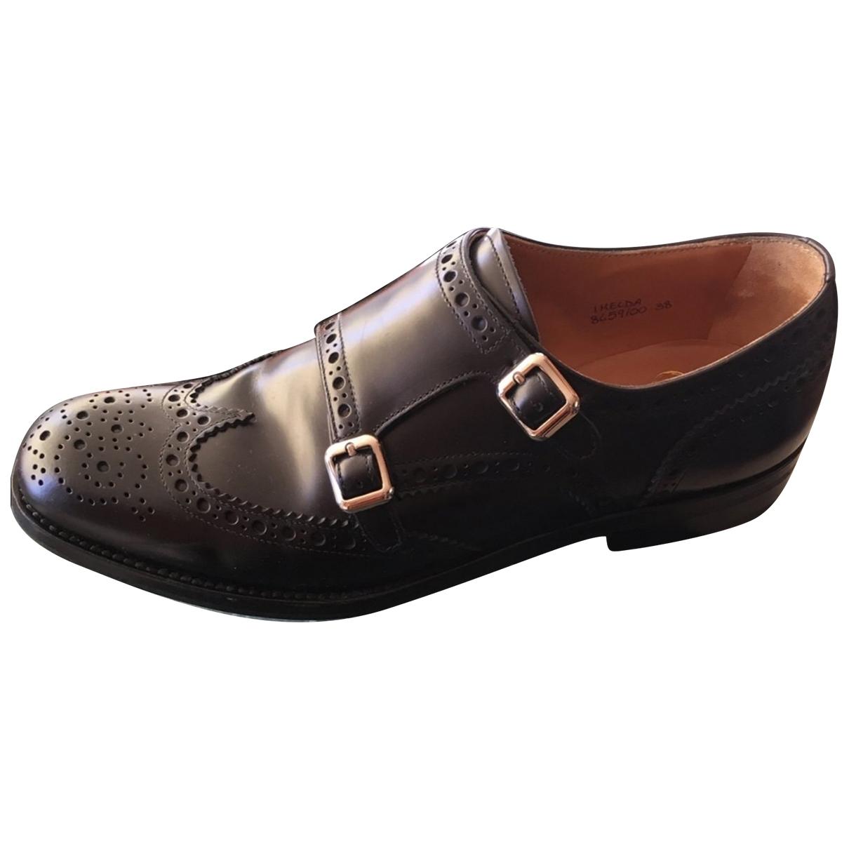 Churchs - Derbies   pour femme en cuir - noir