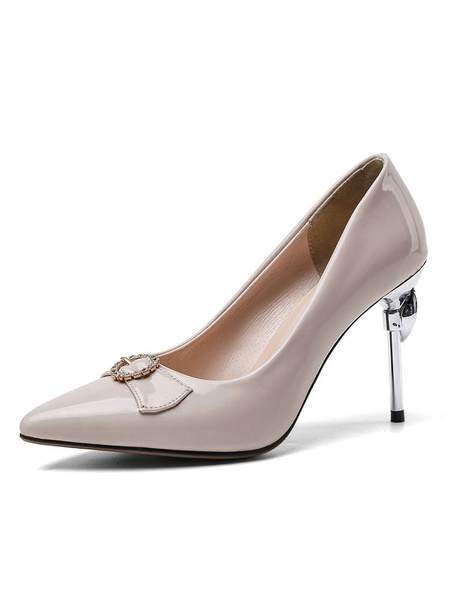Milanoo Zapatos de noche de tacon alto Zapatos de fiesta de tacon de aguja con punta puntiaguda Zapatos de fiesta