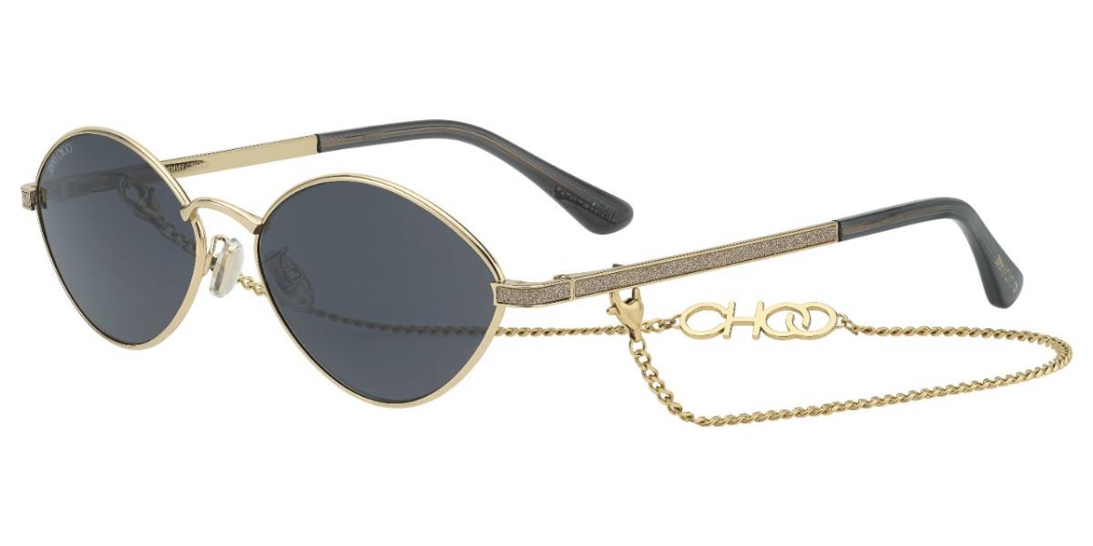 Jimmy Choo Sonny/S 2F7/IR Women's Sunglasses Gold Size 58