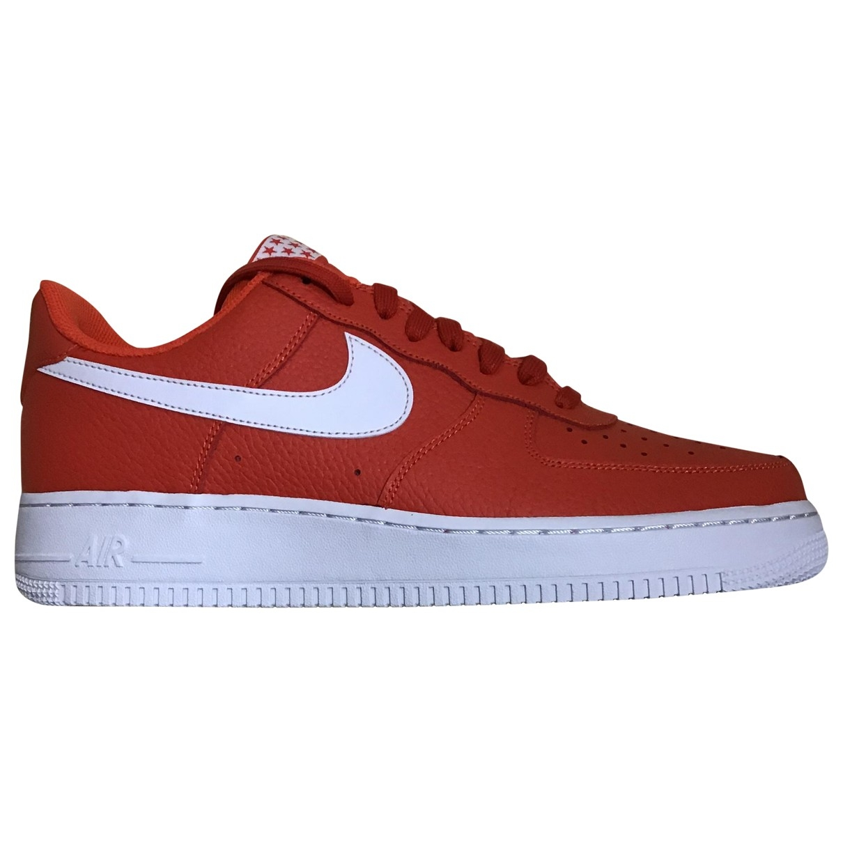 Nike Air Force 1 Orange Leather Trainers for Men 45 EU