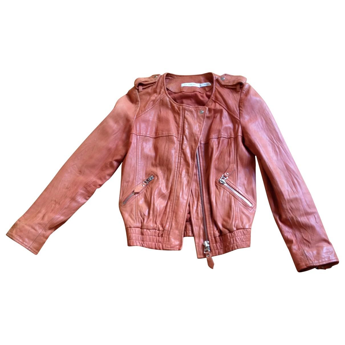 Isabel Marant Etoile \N Orange Leather Leather jacket for Women 38 FR