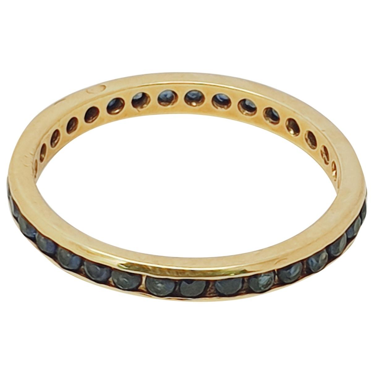 - Bague Saphir pour femme en or jaune - dore