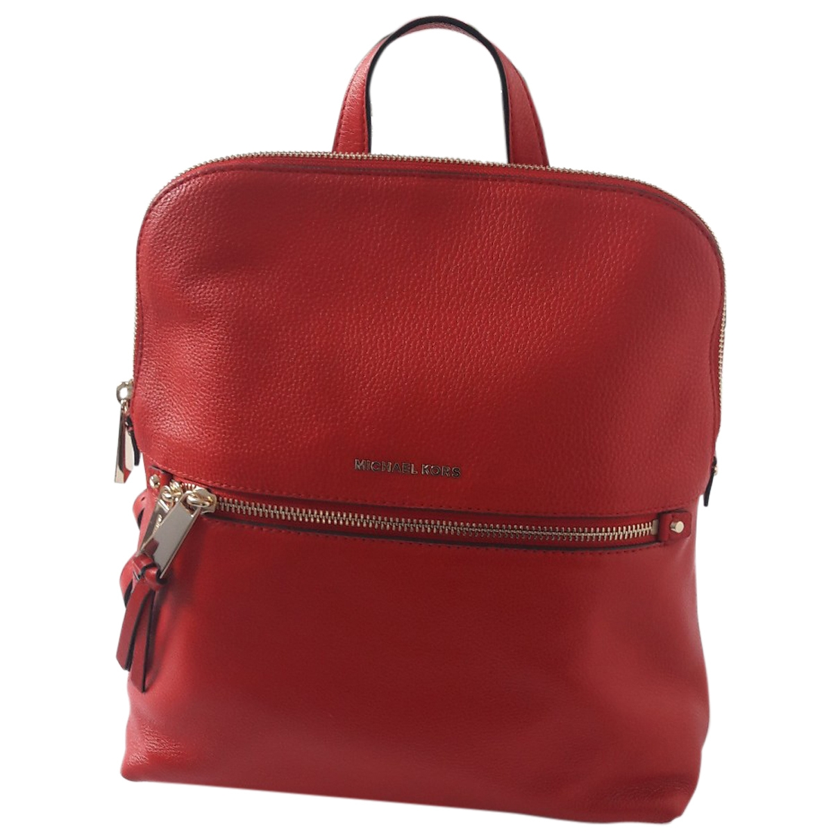 Michael Kors - Sac a dos   pour femme en cuir - rouge
