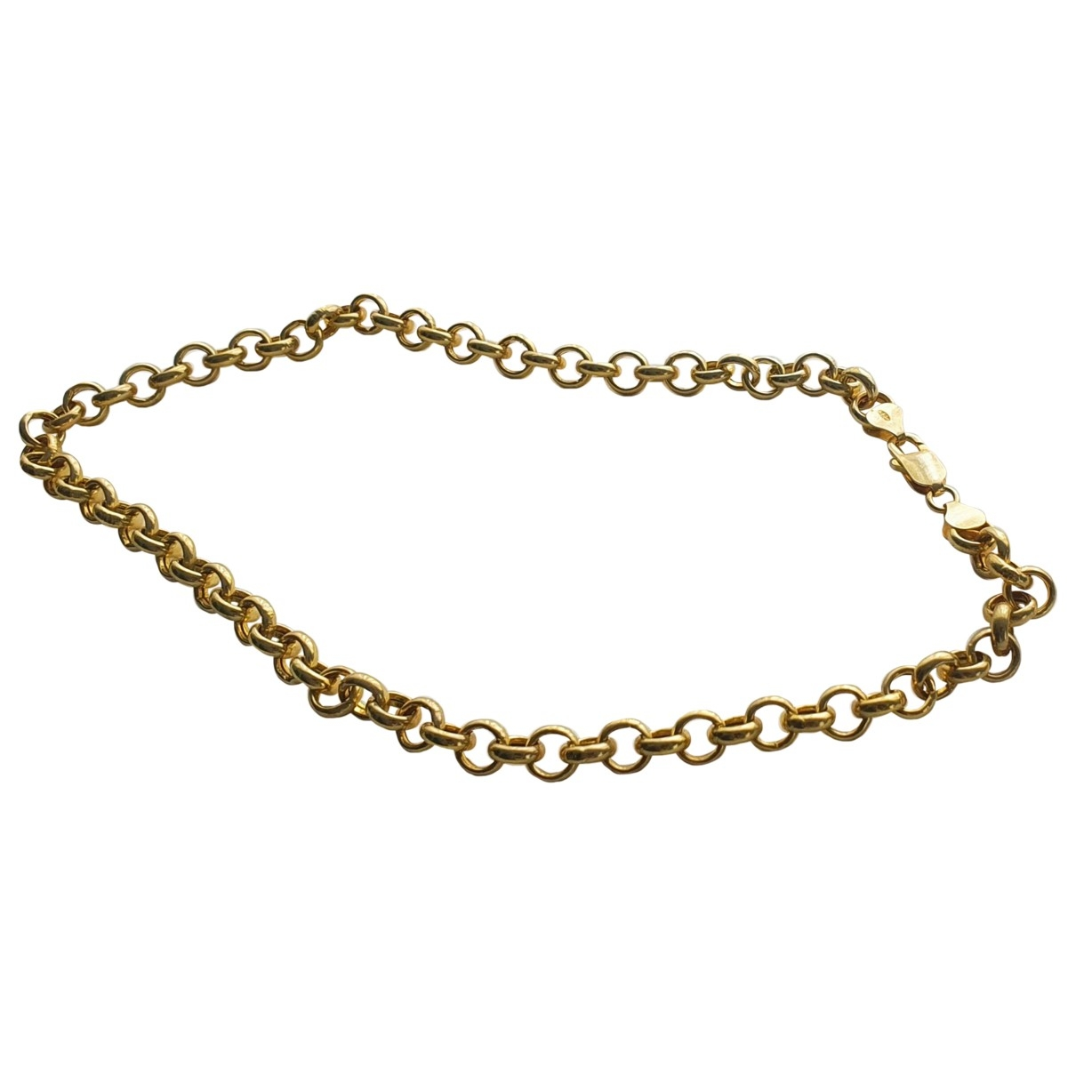 Non Signe / Unsigned Chaines Kette in  Gold Versilbert