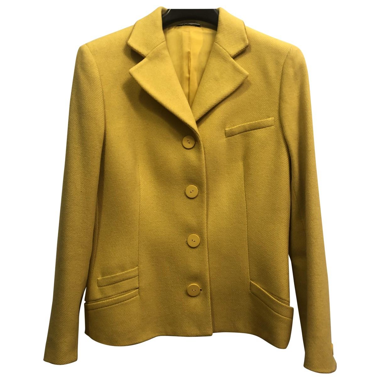 Istante - Veste   pour femme en laine - jaune