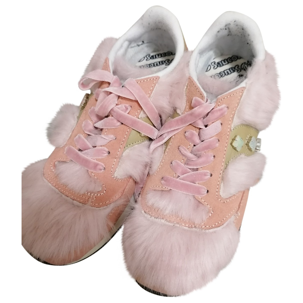 Saucony \N Pink Faux fur Trainers for Women 38.5 EU