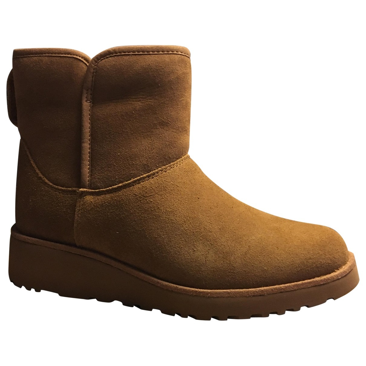 Ugg - Boots   pour femme en suede - camel