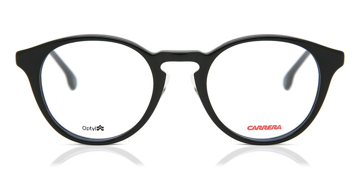 Carrera 179/F Asian Fit 003 Men's Glasses Black Size 49 - Free Lenses - HSA/FSA Insurance - Blue Light Block Available