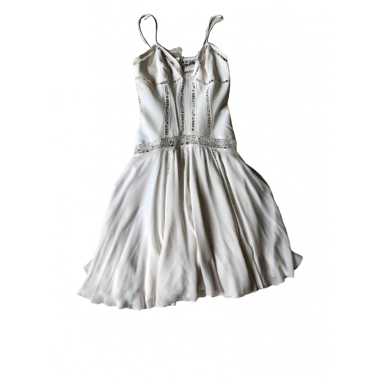 Ermanno Scervino - Robe   pour femme en soie - blanc