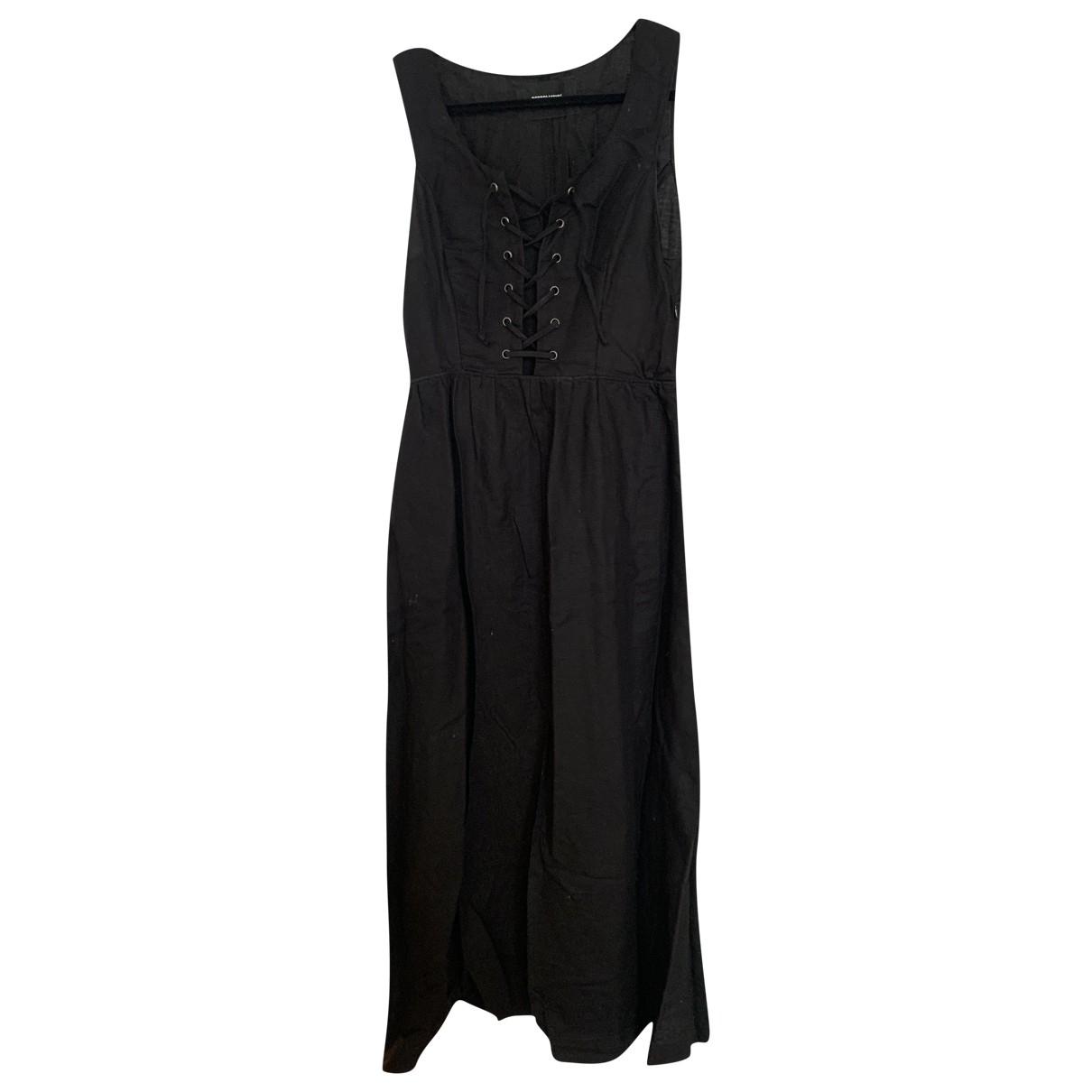 Reformation \N Black Linen dress for Women 4 US