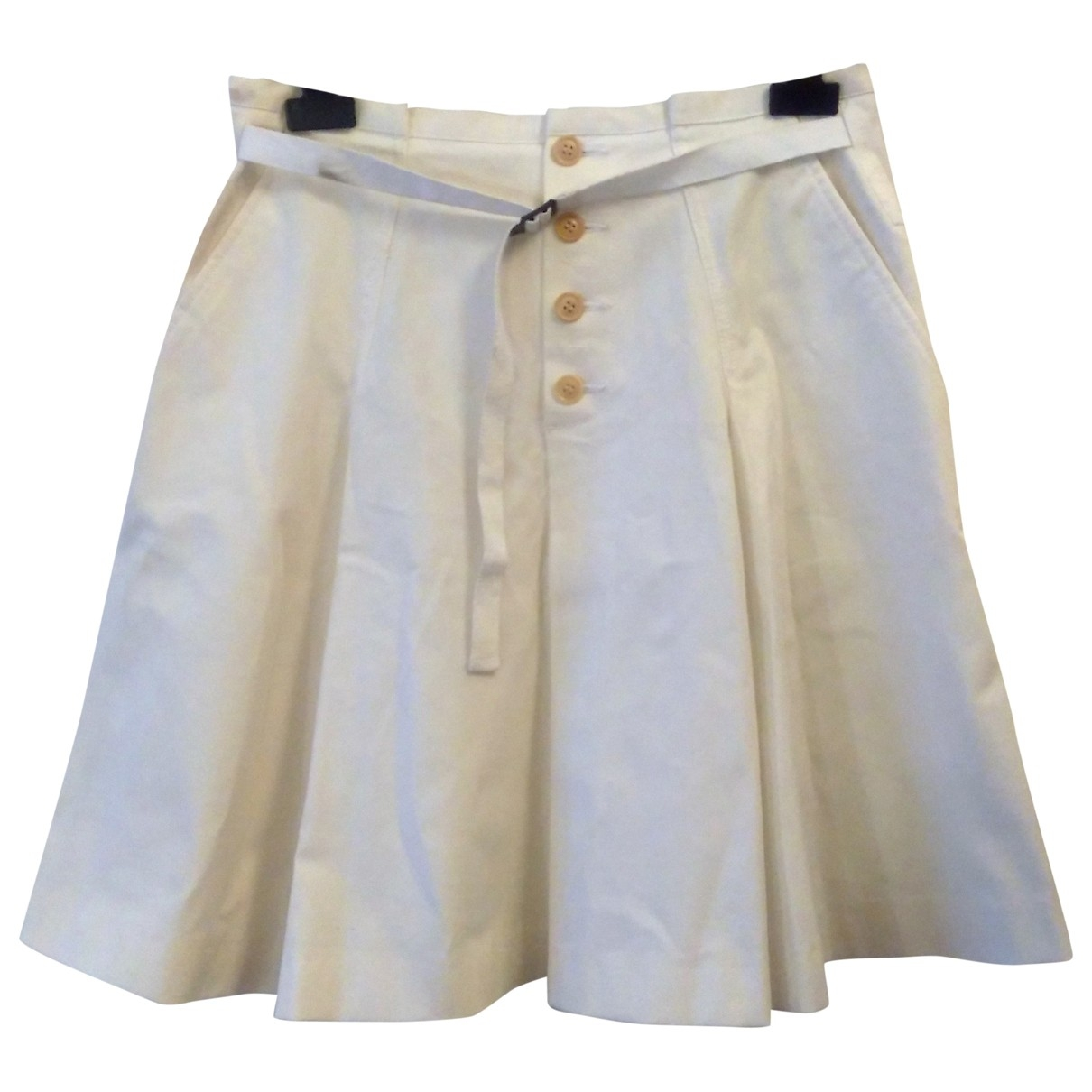 Non Signé / Unsigned \N White Cotton skirt for Women 42 IT