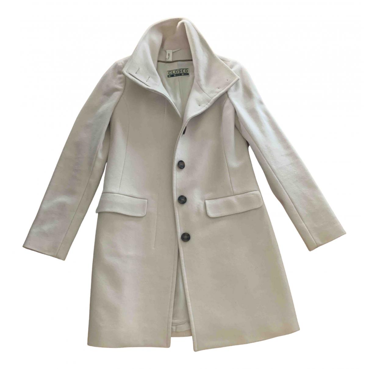 Closed - Manteau   pour femme en laine - beige