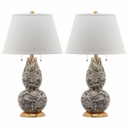Safavieh Color Swirls Glass Table Lamp Sets, One Size , Gray