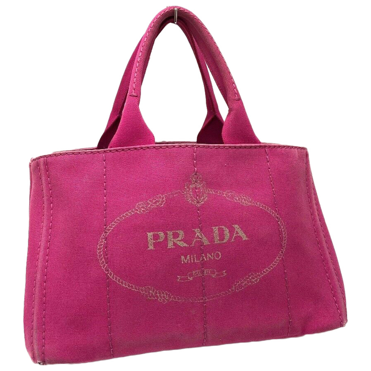 Prada N Pink Cloth handbag for Women N