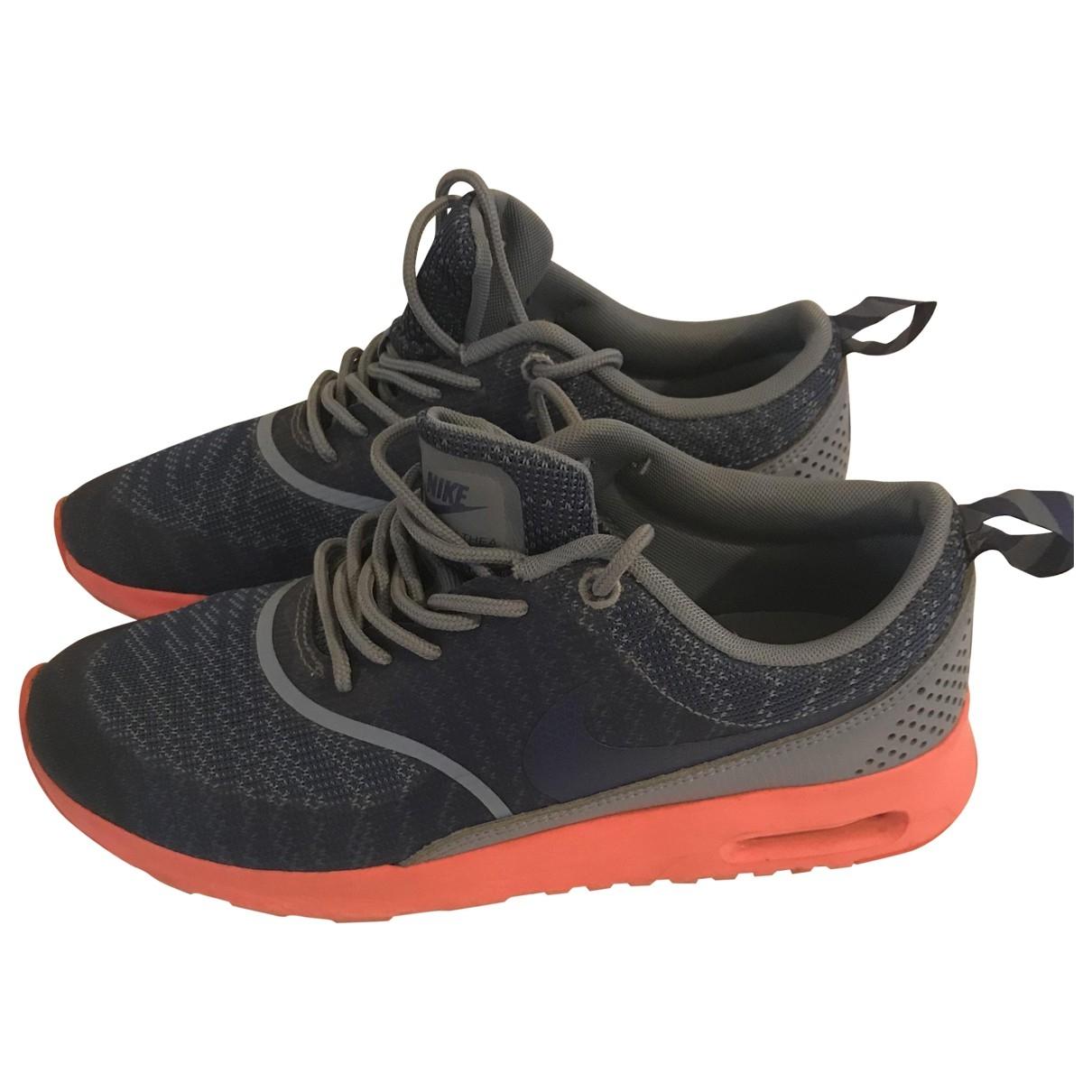 Nike Air Max  Sneakers in  Blau Leinen