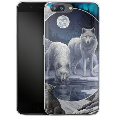 OnePlus 5 Silikon Handyhuelle - Wild Wolves von Lisa Parker