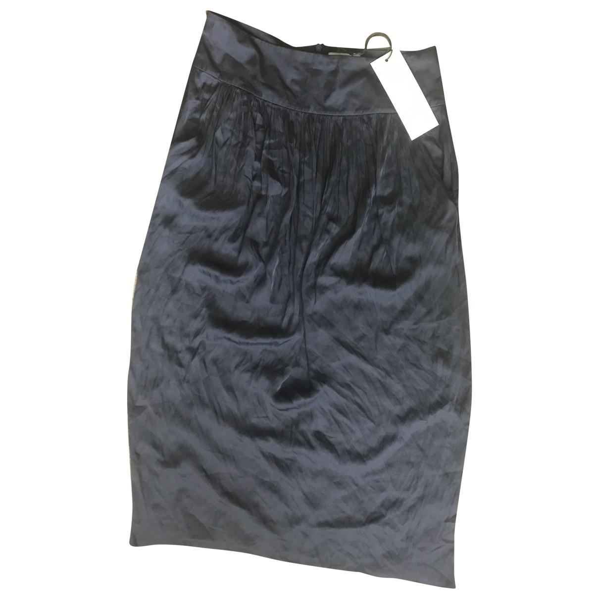 Adam Lippes \N Blue Silk skirt for Women 8 US