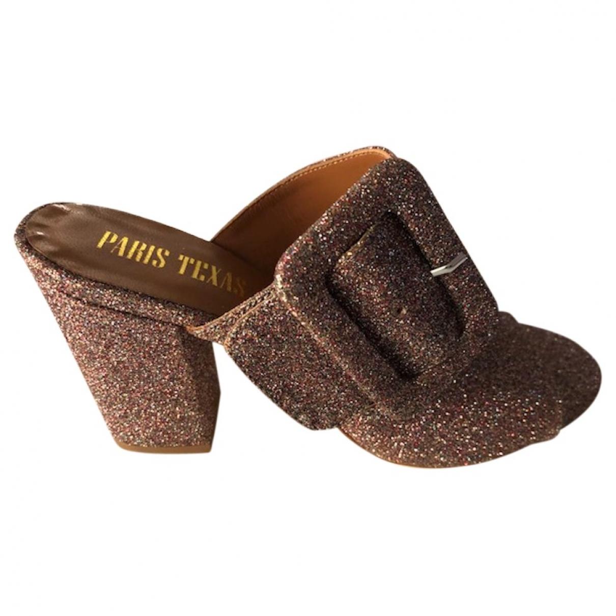Paris Texas \N Metallic Leather Sandals for Women 38 EU