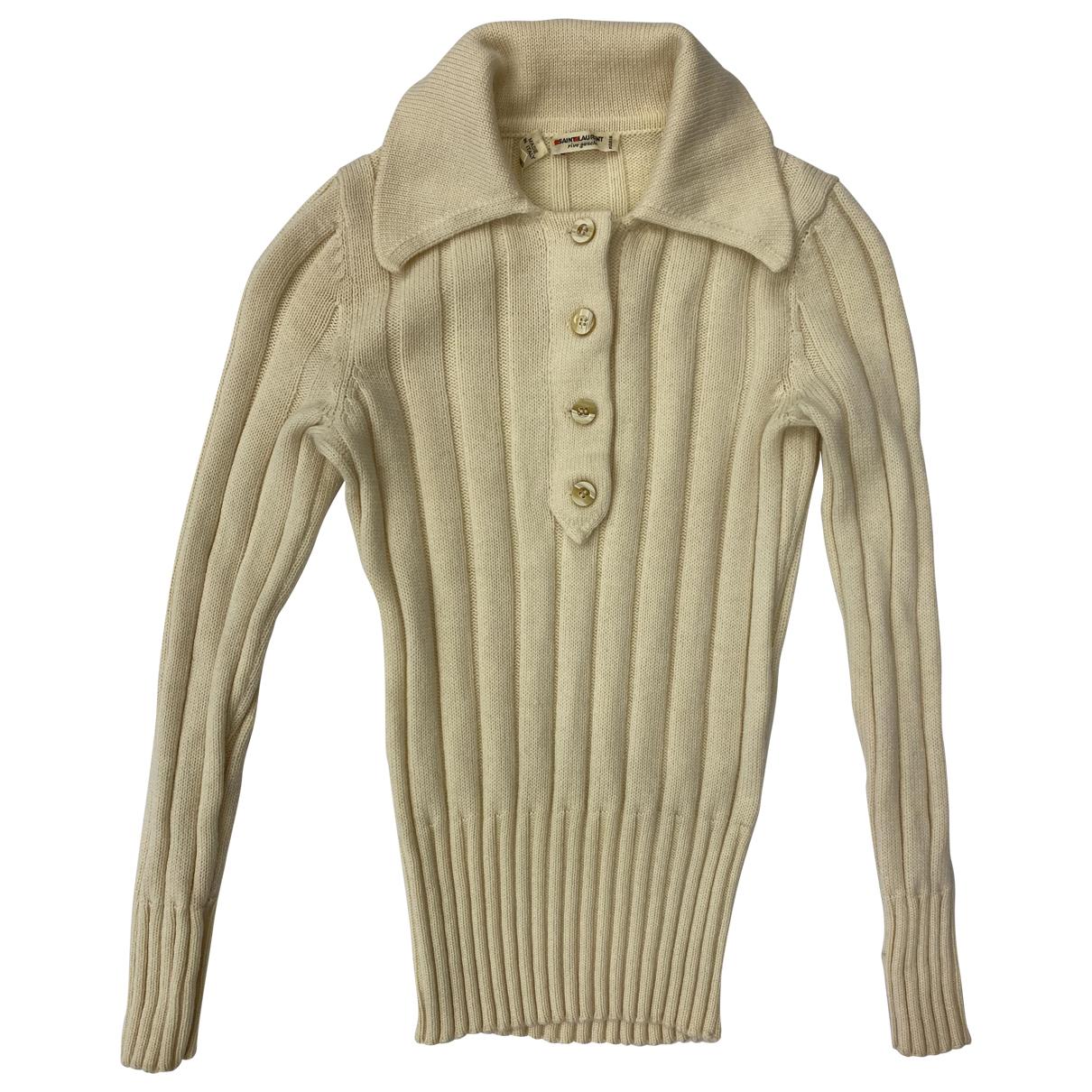 Yves Saint Laurent N White Wool Knitwear for Women XS International
