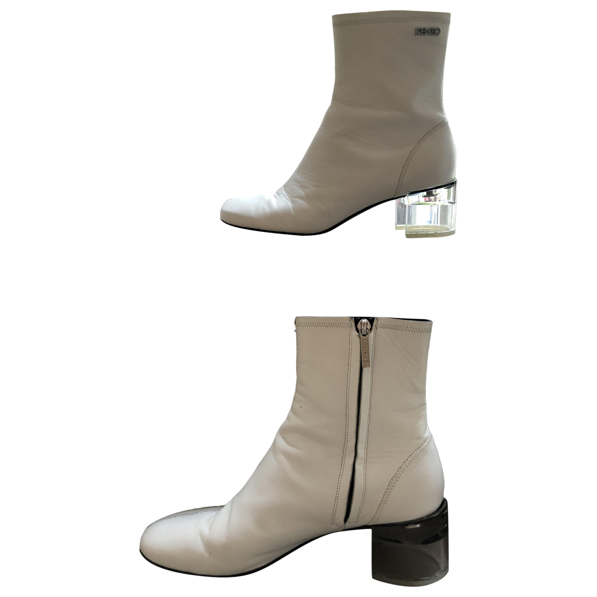 Kenzo \N White Leather Ankle boots for Women 40 EU
