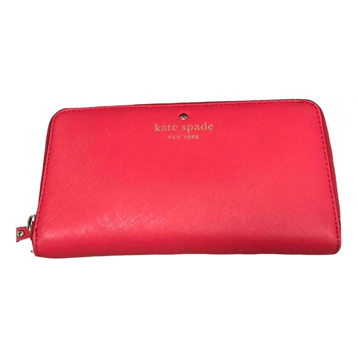 Kate Spade - Portefeuille   pour femme en cuir - rouge