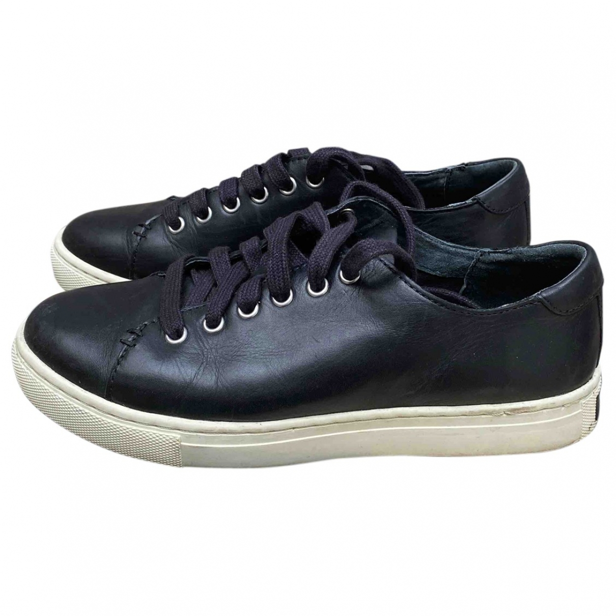 Lauren Ralph Lauren \N Black Leather Trainers for Women 36 EU
