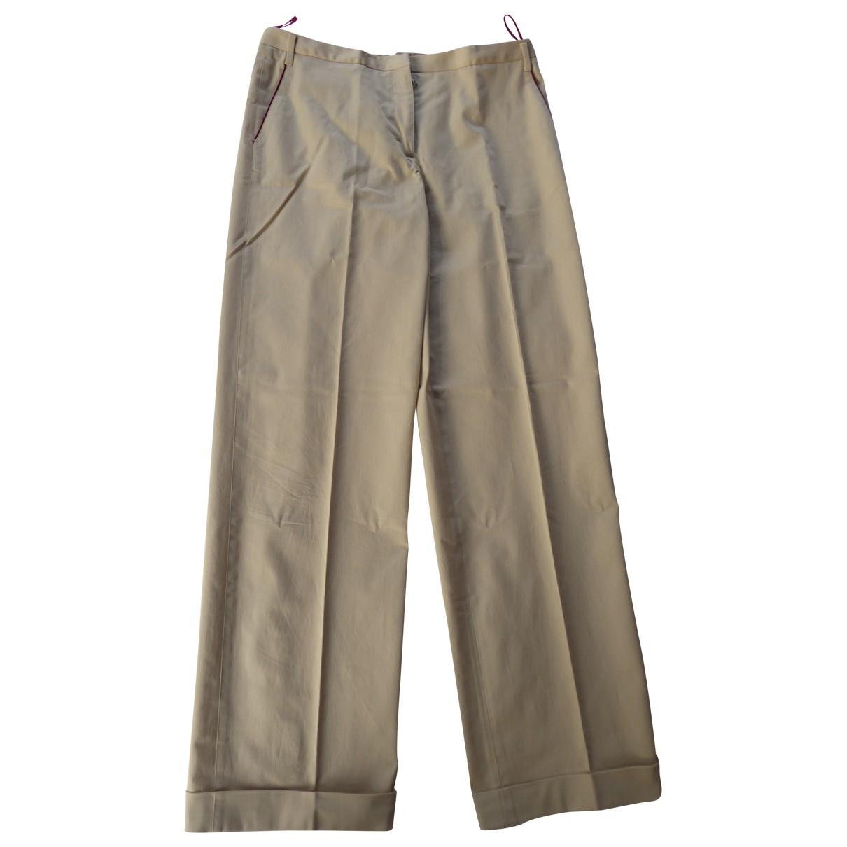 Prada - Pantalon   pour femme en coton - beige
