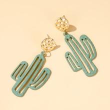 Maedchen Ohrringe mit Kaktus Dekor