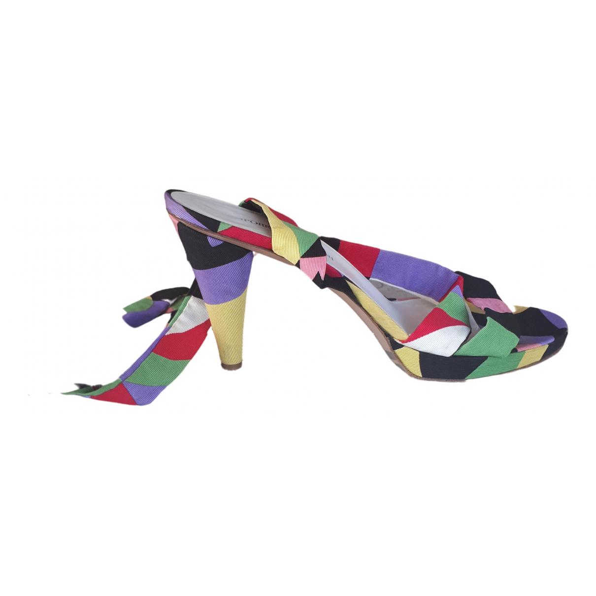 Emporio Armani - Escarpins   pour femme en toile - multicolore