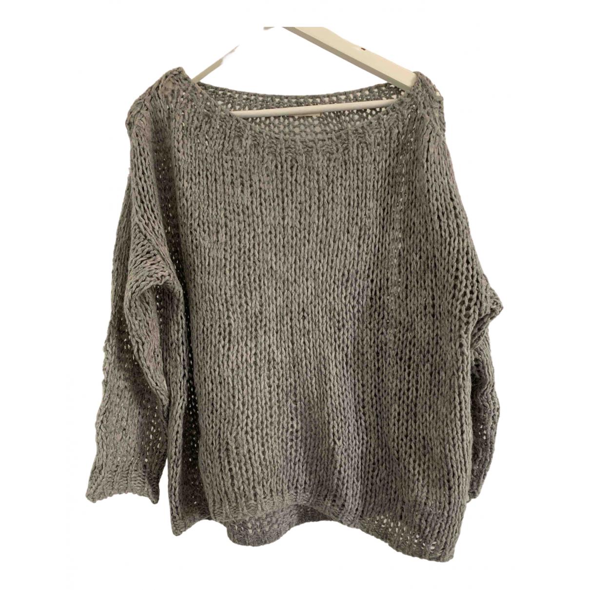 Non Signé / Unsigned \N Grey Wool Knitwear for Women 38 IT