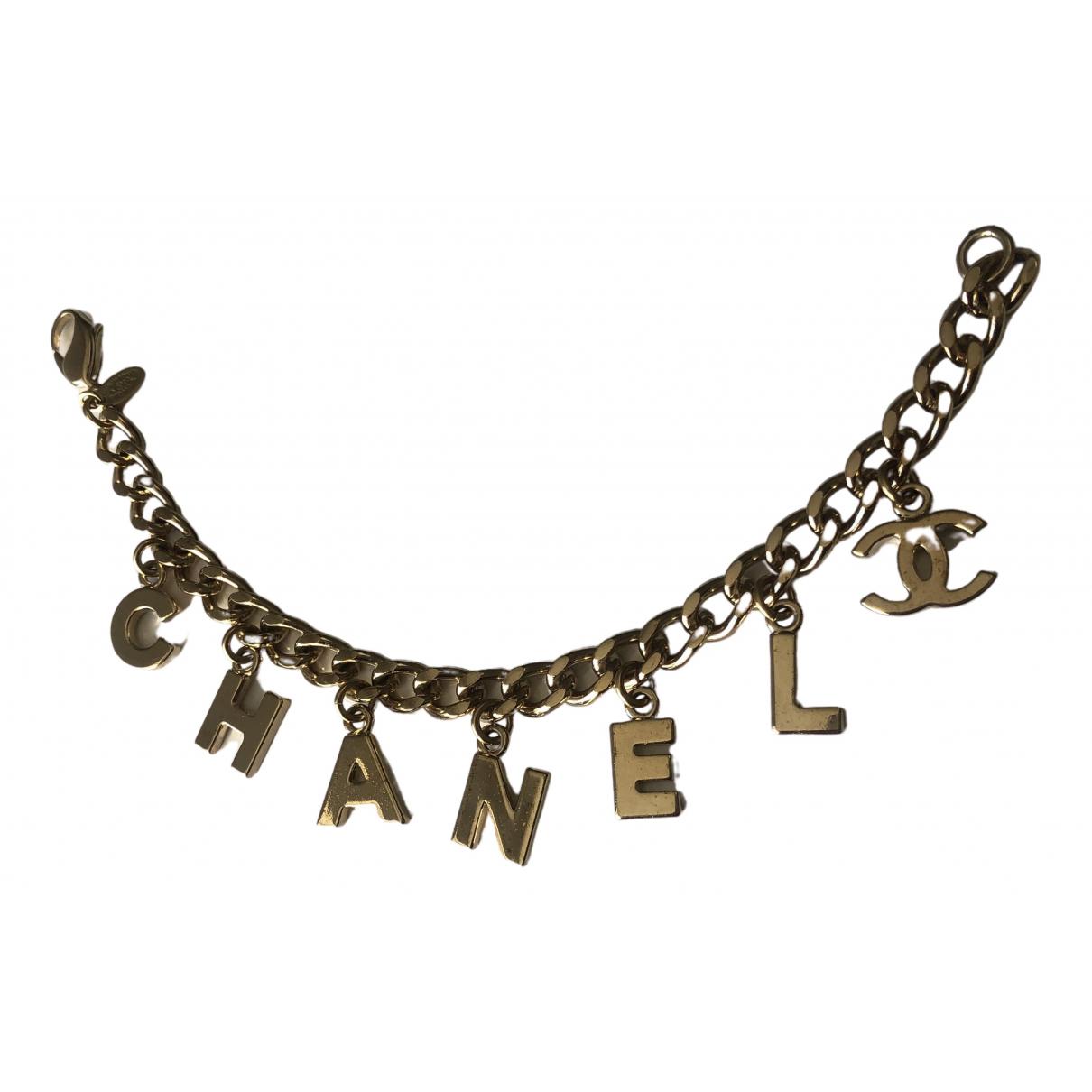 Chanel - Bracelet CHANEL pour femme en metal - dore