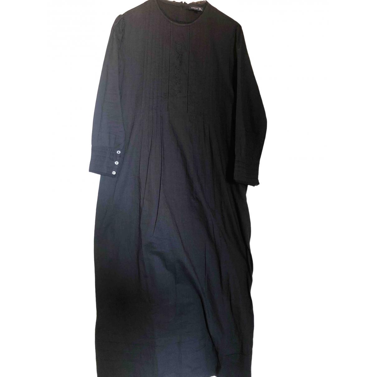 Soeur \N Kleid in  Schwarz Baumwolle