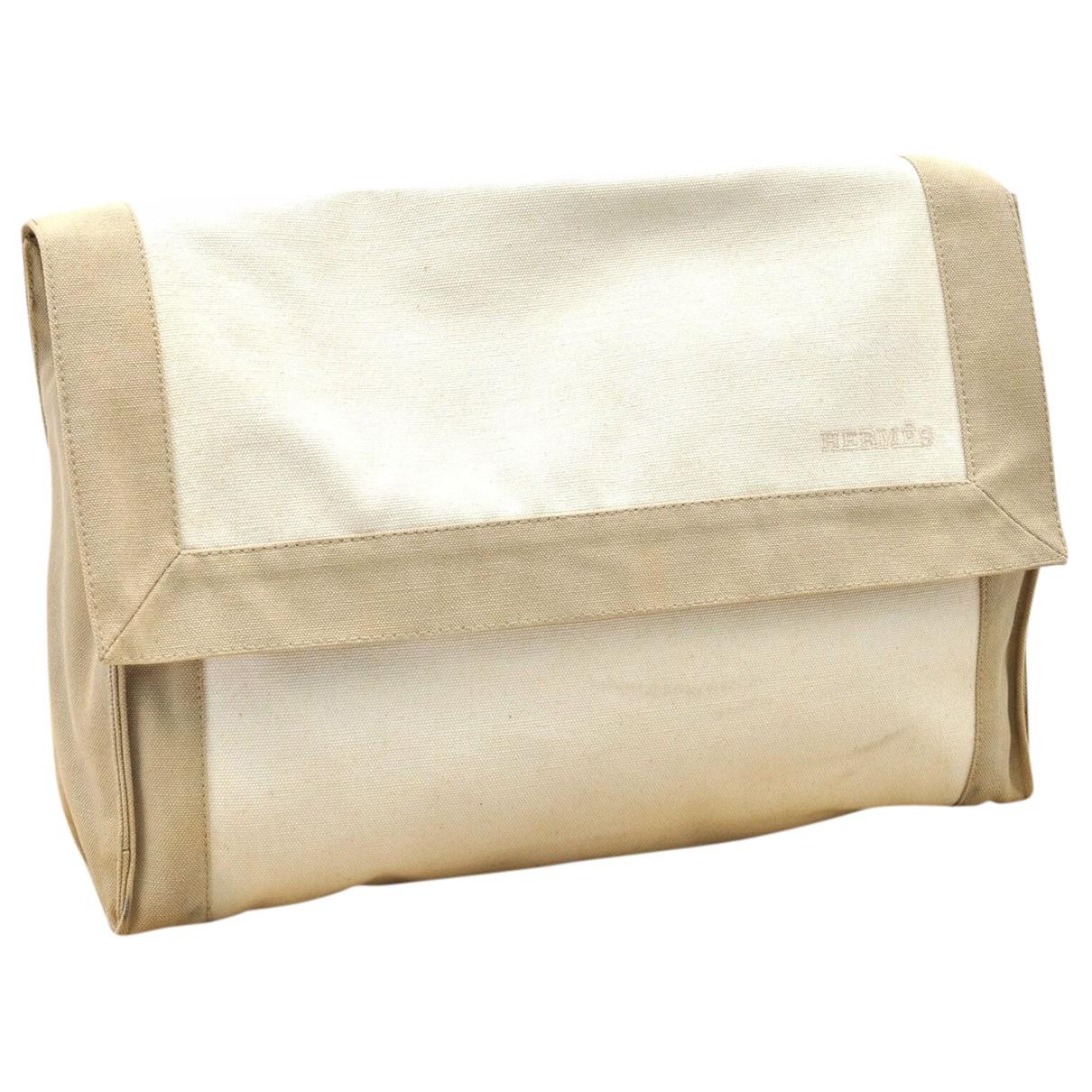 Hermès N Beige Cloth Clutch bag for Women N