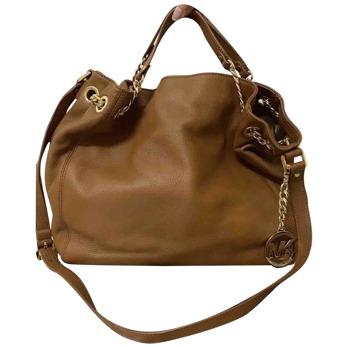 Michael Kors Jet Set Brown Leather handbag for Women N