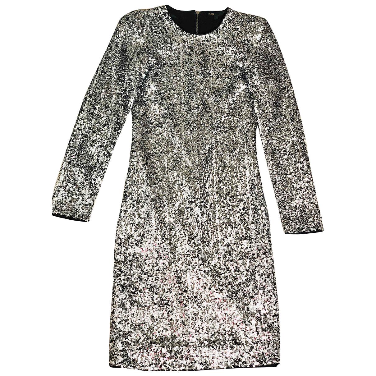Maje N Silver dress for Women 36 FR