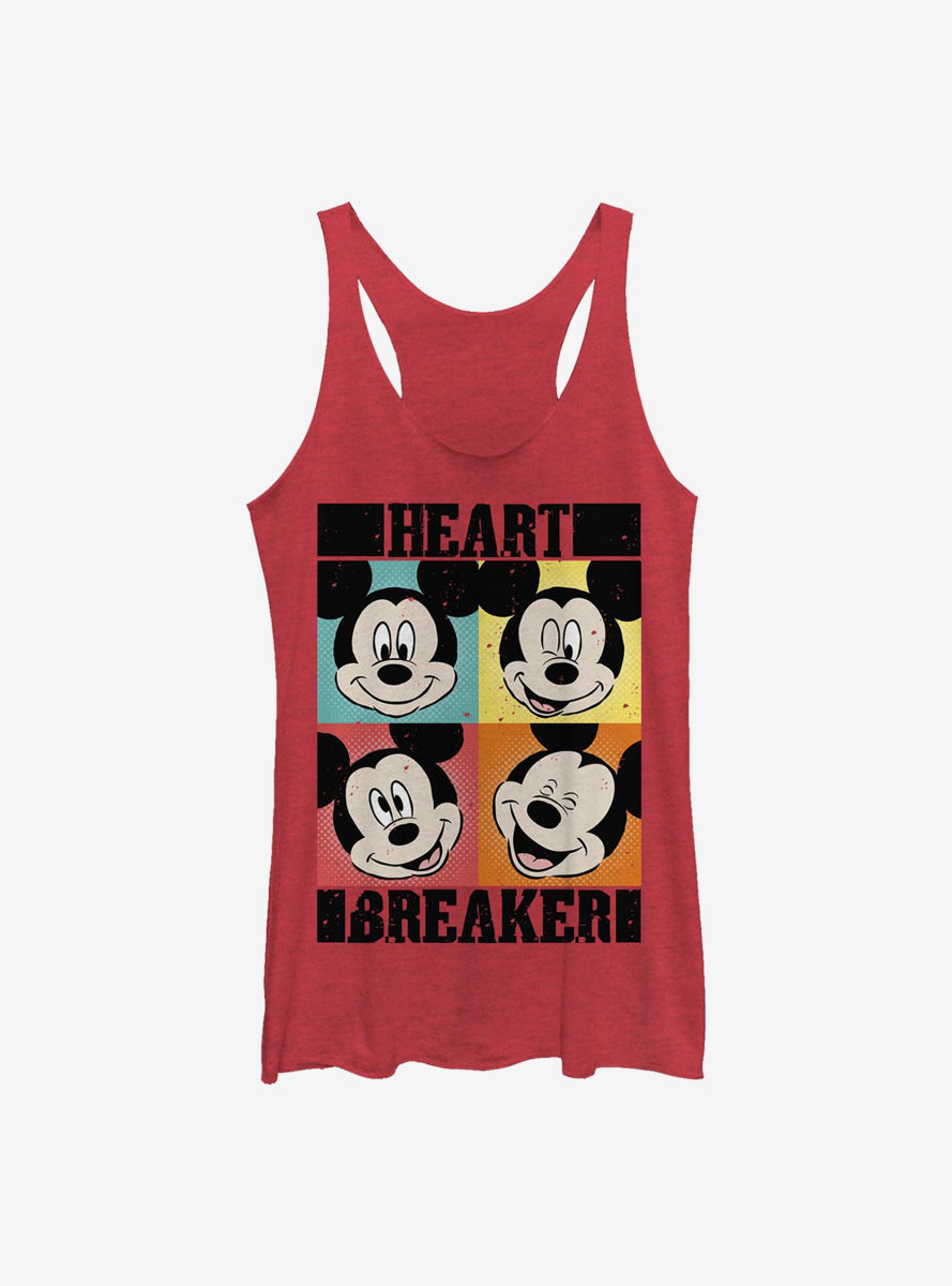 Disney Mickey Mouse Heart Womens Tank Top