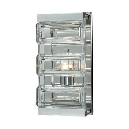 11515/1 Corrugated Glass 1 Light Vanity in Polished