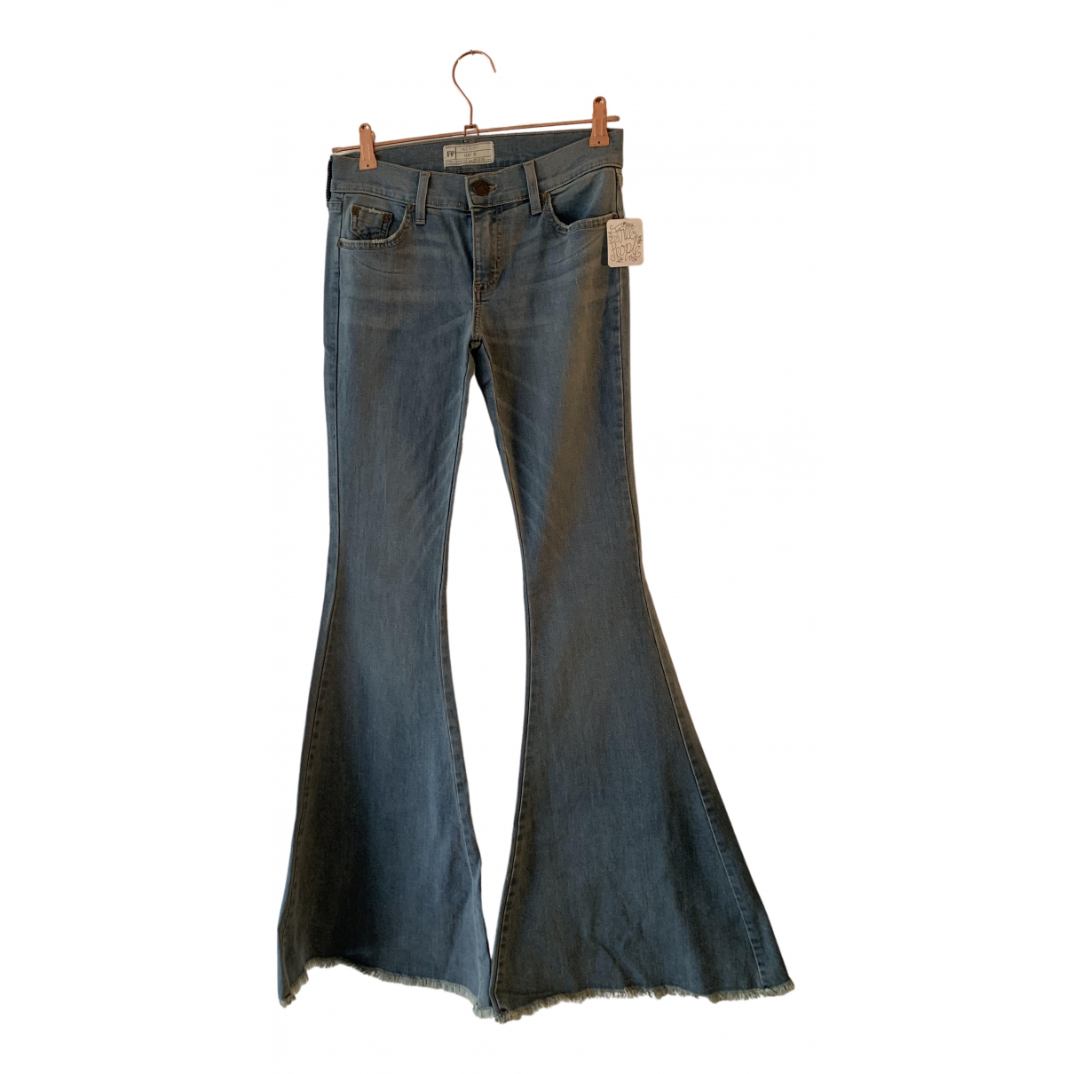 Free People N Blue Cotton - elasthane Jeans for Women 27 US