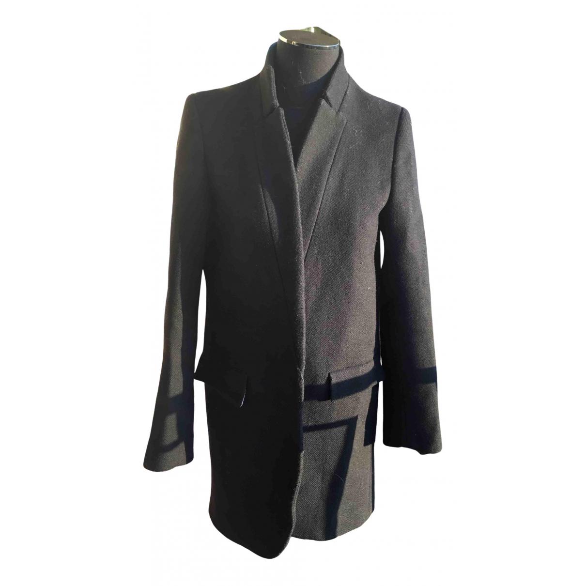 Bel Air - Manteau   pour femme en laine - noir
