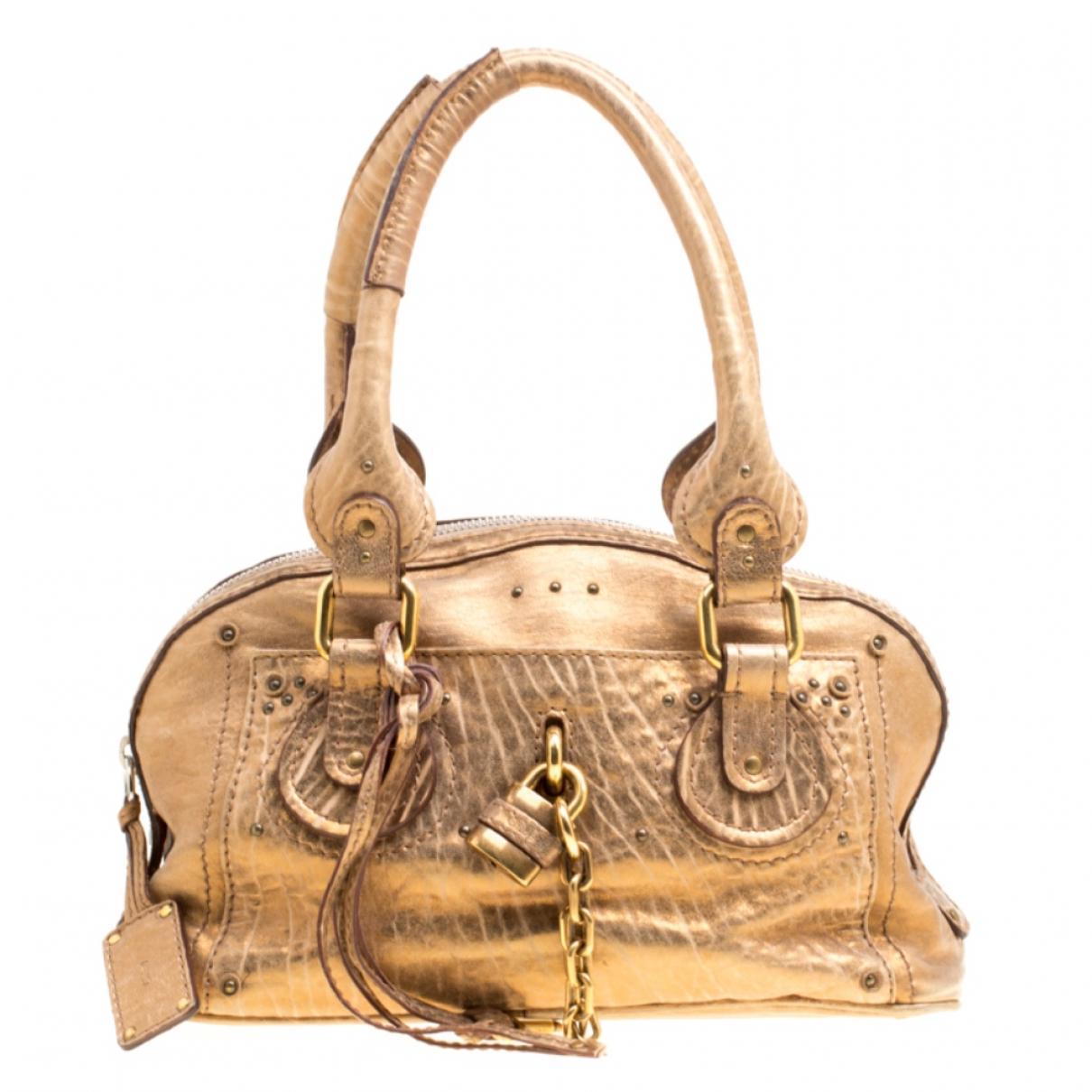 Chloe \N Handtasche in  Gold Leder