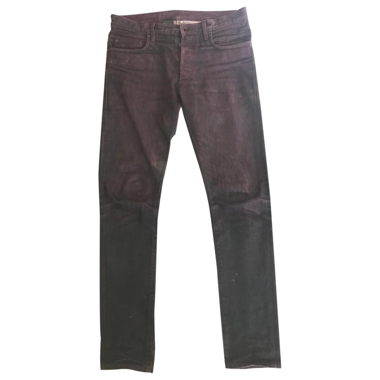 Dior Homme \N Purple Cotton Jeans for Men 38 FR