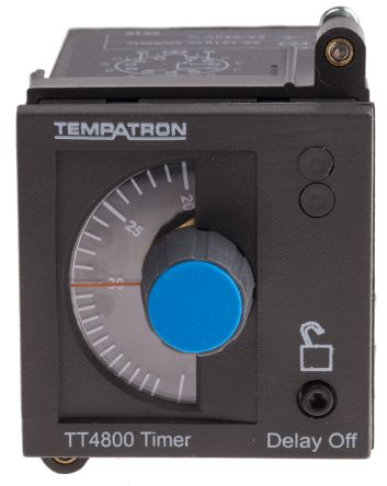 Tempatron DP-NO/NC Timer Relay - 3 s → 30 m, 2 Contacts, Panel Mount, Plug In