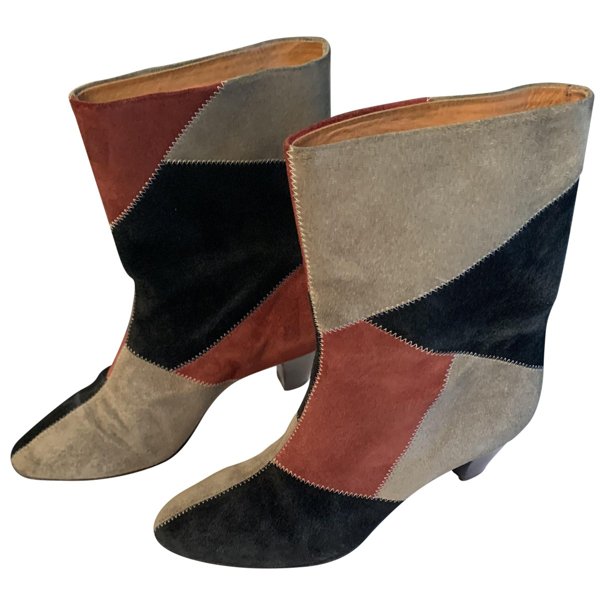 Isabel Marant N Multicolour Suede Boots for Women 38 EU